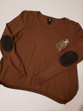 Piękny, brązowy sweterek H&M