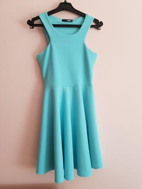 Sukienka niebieska Damska M 38 Londyn Quiz
