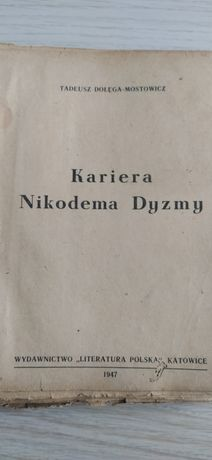 Starą książka Kariera Nikodema Dyzmy 1947r.