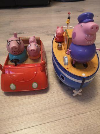 Statek, samochód świnki peppy 50 zł