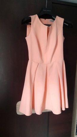 Sukienka brzoskwiniowa 36 S