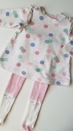 Komplet H&m tunika sukienka i rajstopki rozm 62/68