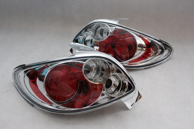 Lampy światła tył tylne PEUGEOT 206 CC CABRIO Chrom TUNING NOWE!