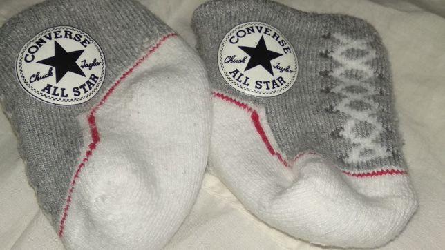 младенцу новорожденному носки конверс Converse носочки