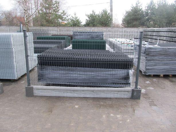 """Panel Ogrodzeniowy ral H130 FI 4 +podmurówka 25cm """"WALDI"""" PRODUCENT"""