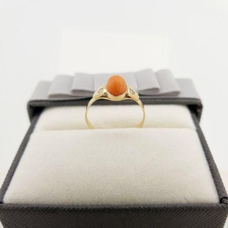 Złoty pierścionek p.585 roz. 18