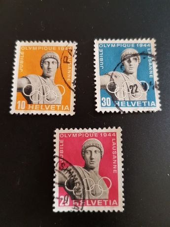 Selos Suíça 1944 Jogos Olimpicos