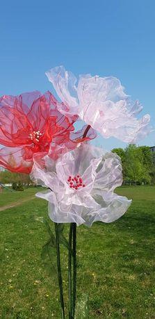 Декор цветы из органзы