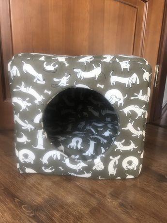Лежанка будка мягкая для собак мелких пород,кошек