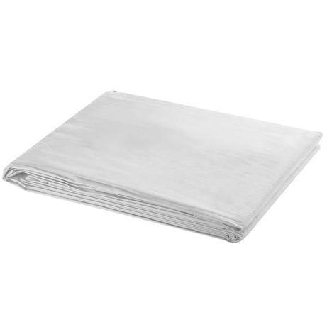 vidaXL Fundo fotográfico em algodão branco 300x300 cm 190004