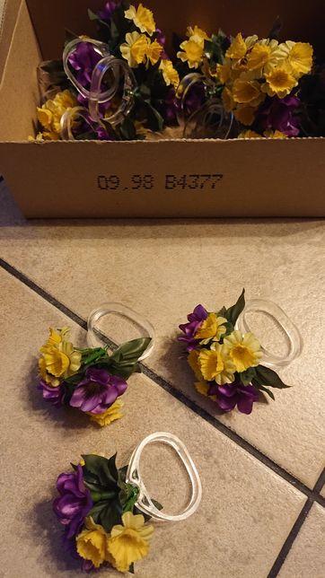 Obrączki, pierścienie do serwetek kwiaty