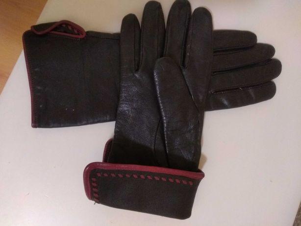 Перчатки рукавиці шкіряні