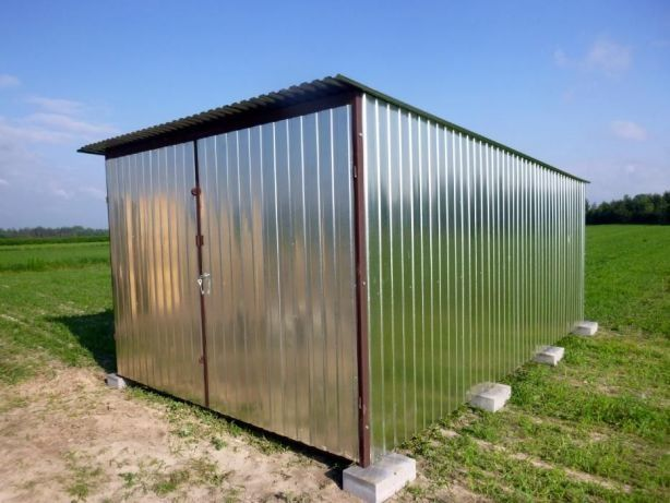 Garaże blaszane LUBLIN Garaż Blaszak na budowę Magazyn Schowek budowa