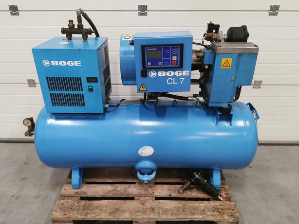 Sprężarka śrubowa BOGE 5.5kw kompresor 800l/min 10bar zbiornik