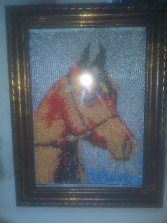 """Картина бисером """"Арабская"""" лошадка"""