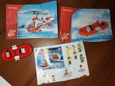 Лего конструктор пожарный вертолёт и лодка