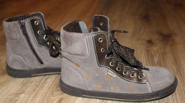Buty dziewczęce Stups skóra zamszowa 32/ 20cm wkładka