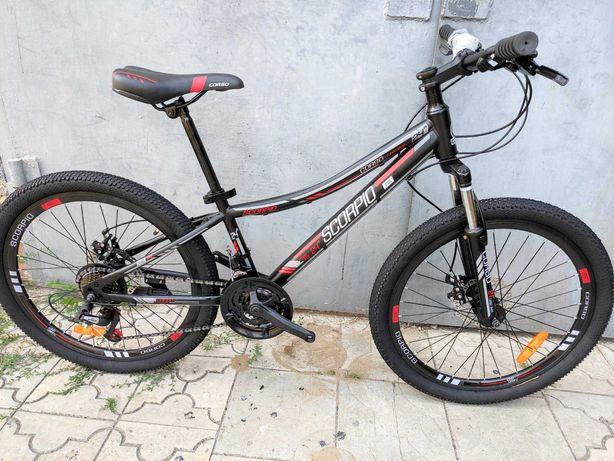 Распродажа! Подростковый велосипед 24 CORSO SCORP (21 sp, disk) Bl-Red