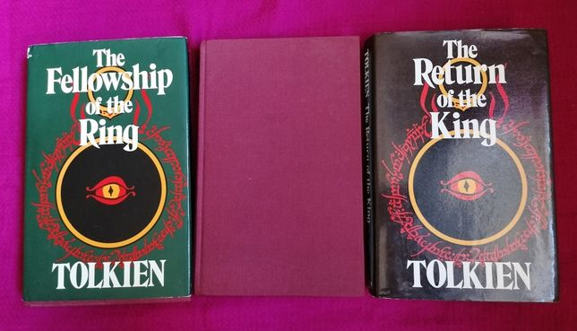 Trilogia Senhor dos Anéis, JRR Tolkien, 1978 Inglês, Capa Dura