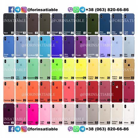 Чехол Silicone Case iPhone 12/11/X/XS/XR/8/7/6/6s/Plus/Max/Pro/Mini