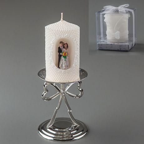 Свадебная свеча с молодожонами