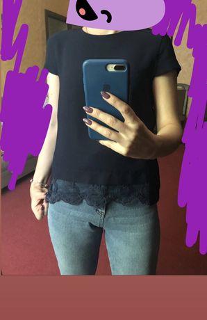 Блузка блуза темно синяя Dilvin размер М 42-44