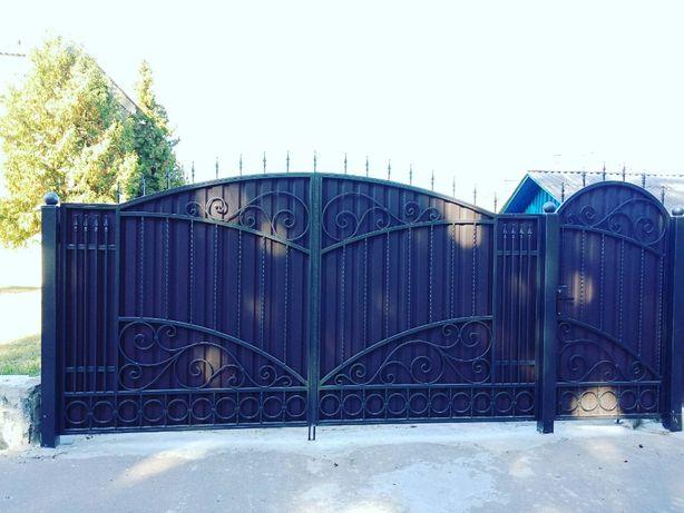 Кованi ворота. Кованые ворота.
