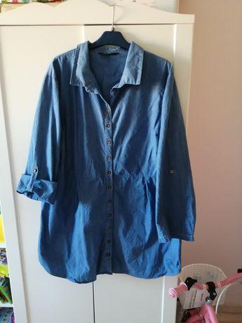Koszula bluzka a'la jeansowa 46 plus size