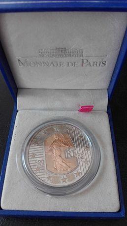 Moeda ouro e prata Francesa 5 Euro 2002