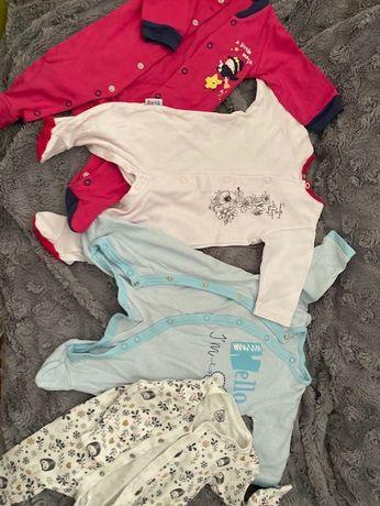 ubranka dla dziewczynki i dla chłopca, roz. 56-68