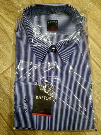 Koszula Kastor S slim 41 niebieska