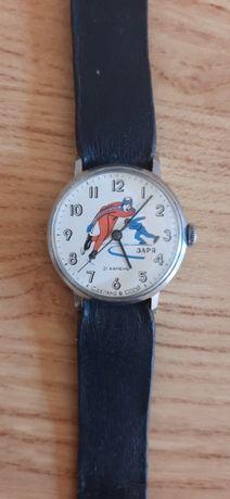 Часы Заря Конькобежцы 21 камень сделано в СССР