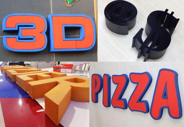 Litry 3D STYRODUR, Logo Przestrzenne, LICO PLEXI 3DLS