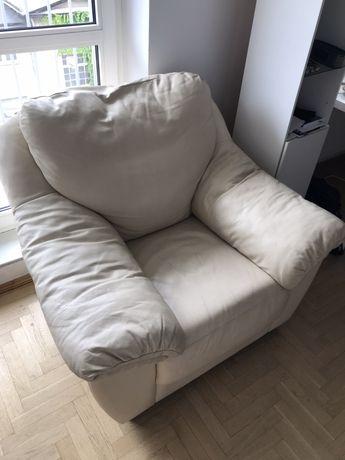 Biały Fotel Skórzany