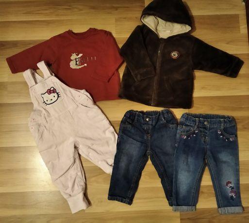 Пакет 80 р (9-12 міс). Куртка, джинси, кофта, комбінезон