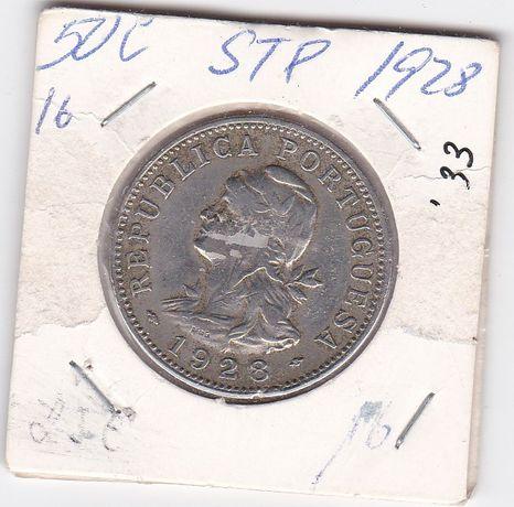 Moeda de $50 alpaca de S. Tomé Príncipe 1929