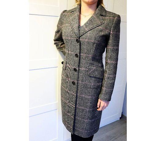 Luksusowy płaszcz damski Deni Cler 100% wełna jagnięca r. 40 L