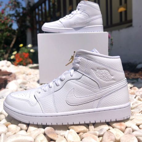 Air Jordan 1 Mid White (42.5)
