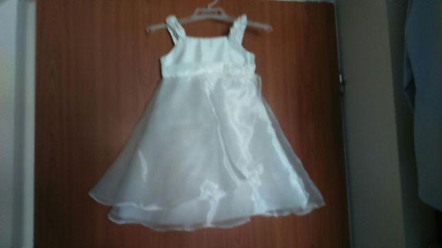 Sukienka na 2 latka, kolor ecru