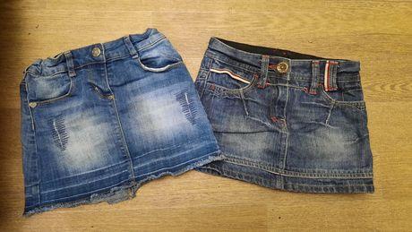 Юбочки джинсовые 2шт