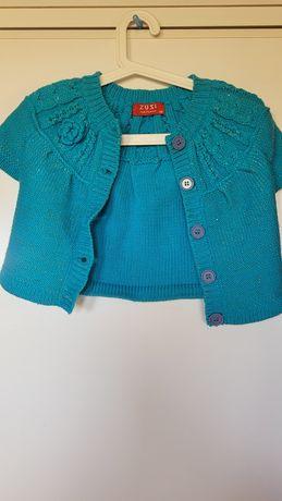Rozpinany sweterek r. 146