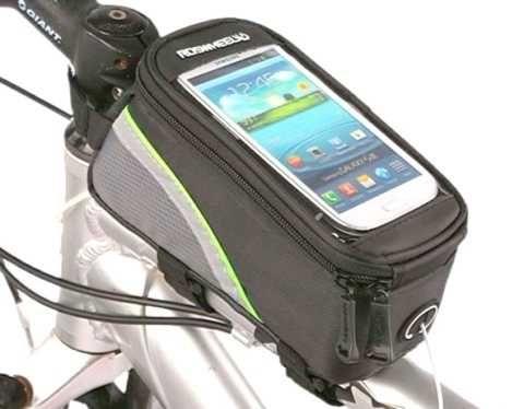 Сумка большая велосумка на раму за руль смартфон 6 + ключи плеер замок