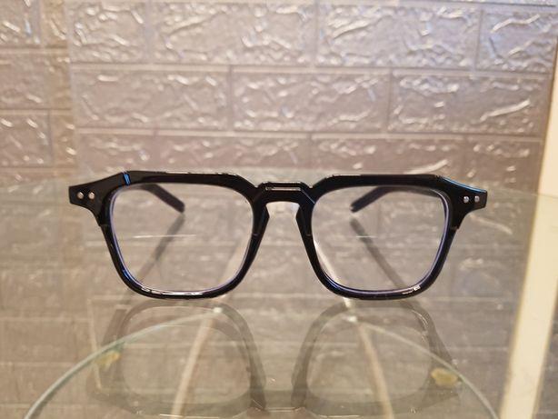 Okulary czarne połysk oprawki uniwersalne nowe
