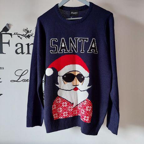 Sweter męski świąteczny z bożonarodzeniowym motywem r. M/L