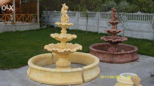 Fontanna z basenem 180cm fontanny ogrodowe okazja_kolory