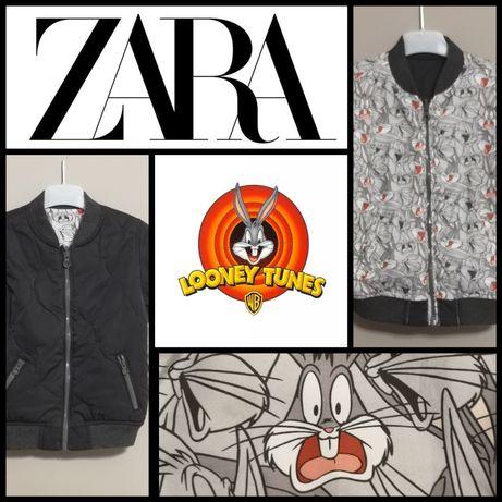 Bomberka Zara 110 Looney Tunes kurtka dwustronna