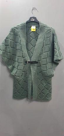Fajna zielona narzutka kardigan krótki sweterek Vero Moda rozmiar M