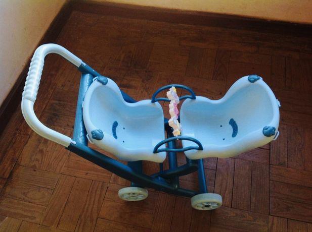 Conjunto 2 Carrinhos bebé brincar Nenuco (2 lugares) + carrinho 1lugar
