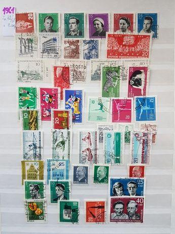 Znaczki niemieckie NRD zestaw serii z roku1961.