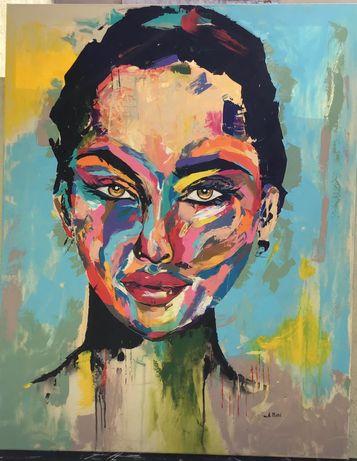Quadro/pintura original acabado de pintar acrílico sobre tela 95x75